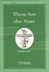 Thou Art The Vine SATB/keyboard