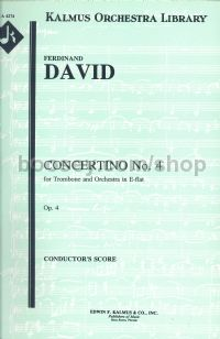 Concertino For Trombone Op 4 in Eb (full score)