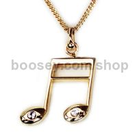Pendant With Rhinestones - Gold Plated