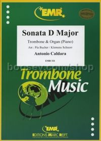 Sonata in D for trombone & piano (Bass/Treble clef)