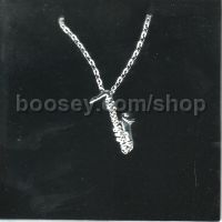 Necklace: Saxophone Design with Crystals