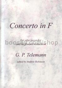 Concerto in F TWV 51:F1 (treble recorder)