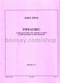 Pipeaubec - for recorder (or flute) & percussion