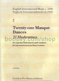 Masque Dances Of Early 17th Century (21) for recorder