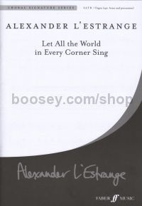 Let All The World In Every Corner (Brass Ensemble, Percussion SATB & Organ)