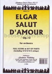 Salut D'amour - Score & Parts pack