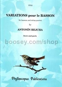 Variations (bassoon & strings) score & parts