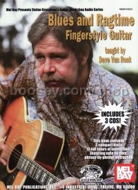 Blues And Ragtime Fingerstyle Guitar (Bk & 3 CDs)