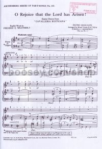 O Rejoice That The Lord Has Arisen (Easter Hymn from Cavalleria Rusticana) (SATB)