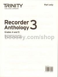 Trinity Recorder Anthology 3 Part Only