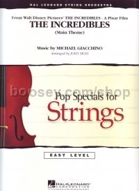 Easy Pop Specials For Strings: The Incredibles (score & parts)