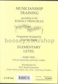 Musicianship Training according to the Kodály principles - Elementary Level, Part One (2 CDs)