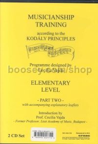 Musicianship Training according to the Kodály principles - Elementary Level, Part Two (2 CDs)