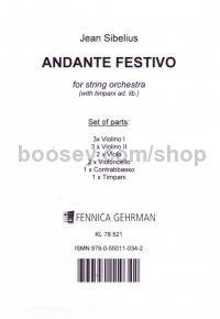 Andante Festivo for string orchestra (set of parts)