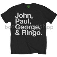 Beatles T Shirt John Paul George & Ringo - Men's Large