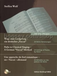 "Paths to Classical Singing – A German ""Vaccai"" Method for Low Voice (+ CD)"