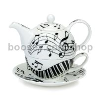 Dunoon Tea for One (Set) (Ebony & Ivory)