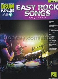 Drum Play-Along 42 Easy Rock Songs (Book & Online Audio)