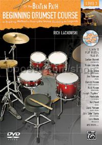 On The Beaten Path Beginning Drumset Course 3 (Book & DVD)