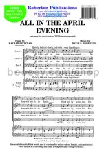 All in the April Evening for male choir