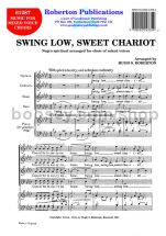 Swing Low, Sweet Chariot for SATB choir