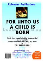 For Unto Us a Child is Born for SA & Men