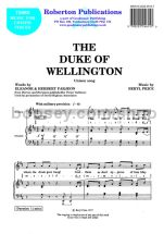 Duke of Wellington for unison choir