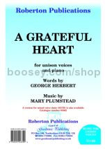 Grateful Heart (in Db) for unison voices