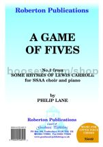 Game of Fives for female choir (SSAA)
