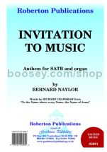 Invitation to Music for SATB choir