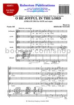 O Be Joyful in the Lord for SATB choir