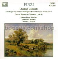 Clarinet Concerto/Five Bagatelles/Three Soliloquies/Romance (Naxos Audio CD)
