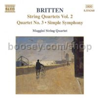 Quartettino/Simple Symphony/String Quartet No. 3, Op. 94 (Naxos Audio CD)