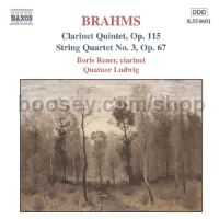 Clarinet Quintet Op 115/String Quartet No.3 (Naxos Audio CD)