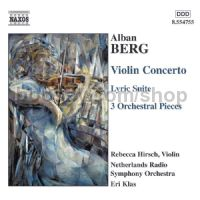 Violin Concerto/3 Pieces from the Lyric Suite/3 Orchestral Pieces (Naxos Audio CD)