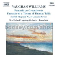Fantasia On Greensleeves/Norfolk Rhapsody No.1/In the Fen Country/Concerto Grosso (Naxos Audio CD)