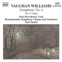 Symphony No.4 in F minor/Norfolk Rhapsody No.1 in E minor/Flos Campi (Naxos Audio CD)