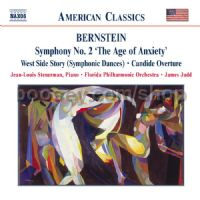 "Symphony No.2 ""The Age of Anxiety""/West Side Story - Dances/Candide Overture (Naxos Audio CD)"