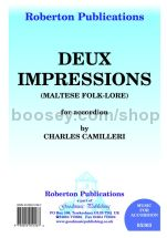 Deux Impressions (Maltese Folklore) for accordion