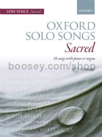 Oxford Solo Songs: Sacred 16 songs with piano or organ (Book & CD) Low Voice