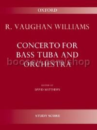 Concerto for bass tuba and orchestra (study score)