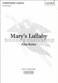 Mary's Lullaby (SATB vocal score)