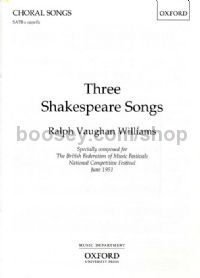 Three Shakespeare Songs for S(S)ATB unaccompanied