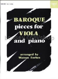 Baroque Pieces for Viola