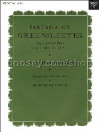 Fantasia On Greensleeves (arr. violin & piano)