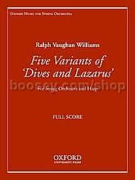 Five Variants on 'Dives and Lazarus' for string orchestra & harp (study score)