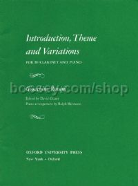 Introduction Theme & Variation for Clarinet & Piano
