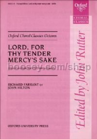 Lord, For Thy Tender Mercy's Sake SATB