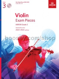 Violin Exam Pieces 2020-2023, ABRSM Grade 3, Score, Part & CD