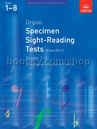 Organ Specimen Sight-Reading Tests, Grades 1–8 from 2011